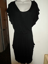 WOMANS LADIES SMART BLACK KNEE LENGTH JERSEY STYLE DRESS FROM HOUSE OF FRASER