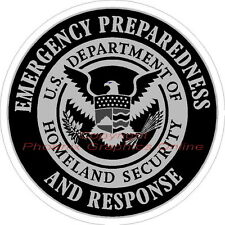 Emergency Preparedness Homeland Security Subdued Police Sheriff Decal Sticker