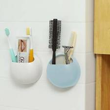 Couple Toothbrush Holder Suction Cup Toothpaste Storage Rack Pocket Bathroom