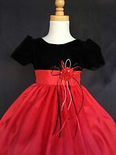 Flower Girl Bridesmaids Christmas Velvet Dress