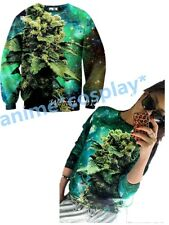 Womens/Mens coral print weed galaxy print 3D sweatshirts Hoodies NEW