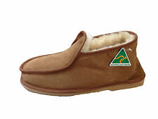 Australian Made genuine sheepskin Ben Slipppers Chestnut colour For Multi Size