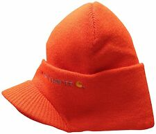 New Carhartt Men's Knit Beanie Hat With Visor One Size Fast Free Shipping