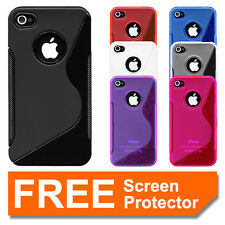 Premium Gel Silicone TPU Soft Case Cover S Line for Apple iPhone 4S 4