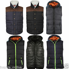 MENS ADULTS LINED QUILTED PADDED GILET BODYWARMER SLEEVELESS VEST COAT JACKET