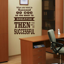 WHEN YOU WANT TO SUCCEED AS BAD AS BREATHE VINYL WALL ART STICKER DECAL V73