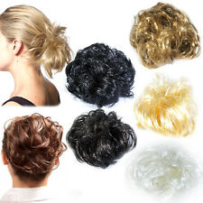 hair scrunchie for bun or ponytail 8 colours (large synthetic hair)