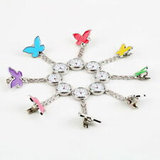 Cute Pendant Butterfly Nurse Clip-on Brooch Quartz Hanging Pocket Watch New BX