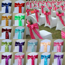 Satin Chair Cover Sash Bow Wedding Party Supplies Back Tie Ribbon Decoration