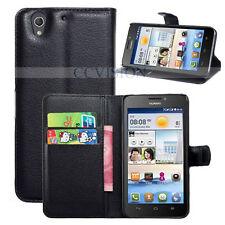 For Huawei Ascend G630 Arrival Luxury Litchi Lines Durable Leather Wallet Case