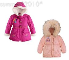 Girls Anna Warn Fleece Lined Jackets Top  Kids Coats Tops Clothes 3-10Y