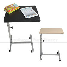 Black Roll Over Bed Portable Notebook Laptop Computer Food Stand Table Desk Tray