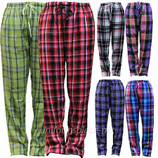 Women flannel pajamas pants Poly/Rayon Loungewear Plaid Pant PJ Sleepwear S - XL