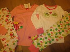 2 PC NWTS Gymboree Froggy or Turtles Girls Pajamas,Gymmies,PJs 3,5,6,7