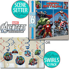 AVENGERS BIRTHDAY PARTY SUPPLIES SCENE SETTER OR HANGING SWIRL DECORATIONS