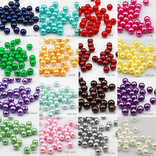 50pcs 8mm quality Plastic pearl Round beads Jewelry Findings 16 color