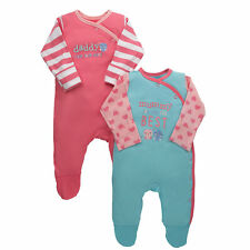Mothercare Baby Newborn Girl's Mummy and Daddy Sleepsuits - 2 Pack