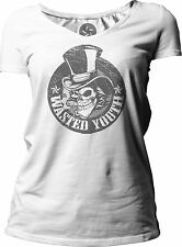 Big Texas Wasted Youth (Grey) Women's Short-Sleeve V-Neck T-Shirt