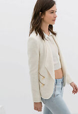 Authentic!!! Size M, L - ZARA STRUCTURED JACKET WITH ZIPS OFF WHITE COAT BLAZER