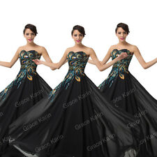 FINAL CHEAP PEACOCK Quinceanera Formal LONG Prom Party Evening XMAS Dresses Gown