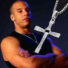 Fashion Unisex's Men Stainless Steel Cross Pendant Necklace Chain Silver/Gold
