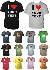 I Heart / Love 'Your Text' Personalised Mens T-Shirt Small - XXL Various Colours