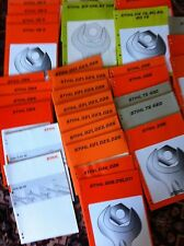 Stihl owner, repair maual for different series of Stihl power tools