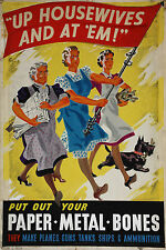 14 World War II Poster  -  Up Housewives And At 'Em *FREE POSTERS