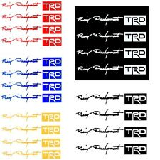 4x TRD Car Stickers Auto Door Knob Handle Decals Reflective Paster Tags 5 Color