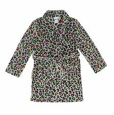 "Tweenklz Girls'  ""You Snooze You Lose"" Leopard print Plush Coral Fleece Robe"