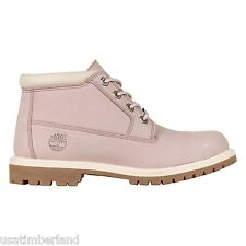 Timberland Womens PINK Lavender GUM Waterproof Nellie Chukka Boots Shoes #8705A