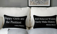 New Marilyn Monroe/Audrey Hepburn Quote Throw Pillow Case Lumbar Cushion Cover