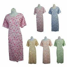 New Fashion Ladies Floral Print Cotton Nightwear Sleepwear Nightgown Pajama Robe