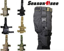 Tactical Airsoft Hunting Pistol Drop Leg Thigh Right/Left  Hand Holster Pouch