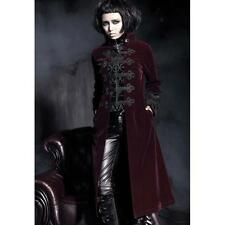 Punk Rave Royal Red Trench Coat - Gothic,Goth,Red,Jacket,Coat