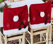 Santa Red Hat Chair Covers Christmas Decorations Dinner Chair Xmas Cap Sets