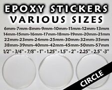 Round Epoxy Stickers - Various Sizes and Various Quantities - Free Shipping