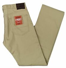 Dockers NEW Men's Beige Straight Fit Stretch 5-Pocket Pants MSRP $58