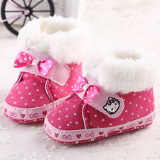 New Pink Baby Girl Lovely Boots Shoes Toddler Infant Anti-Slip Soft Winter Boots