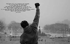 TIME4ART ROCKY BALBOA Boxing CANVAS PRINT GICLEE Art Wall Decor POSTER QUOTE