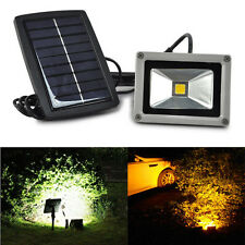 10W Solar Power LED Flood Night Light Garden Spotlight Waterproof Outdoor Lamp