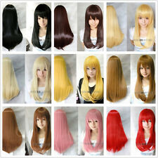 Heat-resistant 60cm Long Ladies Fashion Straight Cosplay Wig (10 colors)