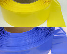 83mm x 4mil Layflat Heat Shrink PVC - 5ft, 10ft, 25ft - PVC Battery Wrap