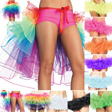 Rainbow Neon RaRa Rave Dance Ballet Tutu Ruffle Tiered Fancy Skirt Clubwear