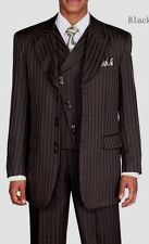 Men's 3 piece Fashion  Suit w/Vest Tone on Tone Stripe by  Milano Moda 29197V