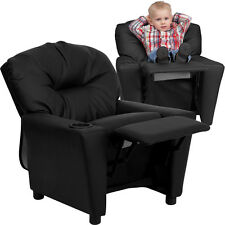 Contemporary Kids Recliner with Cup Holder - Color Choice
