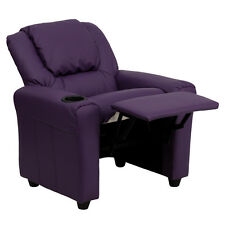 Contemporary Kids Recliner with Cup Holder and Headres - Color Choice