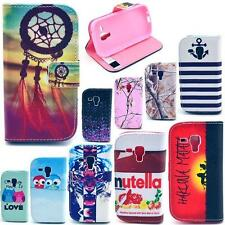 New Stylish Wallet PU Leather Case Skin Cover For Samsung Galaxy S Duos GT-S7562