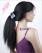 """Brazilian Kinky Straight 100% Remy Human Hair 14""""-22""""  Lace Full Wig Front Wigs"""