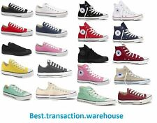 NEW Converse All women men Stars canvas Low High sneakers shoes Many Colours